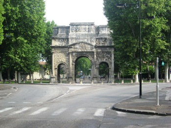 Triumphal Arch as we leave Orange