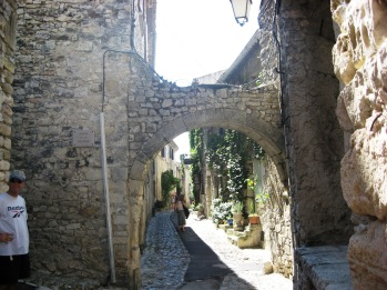 Archway over the narrow street