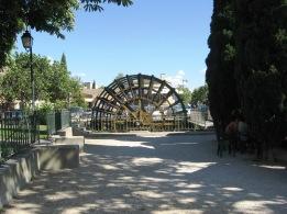 Moss covered waterwheel