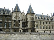 Paris -passing the Conciergerie along the Seine
