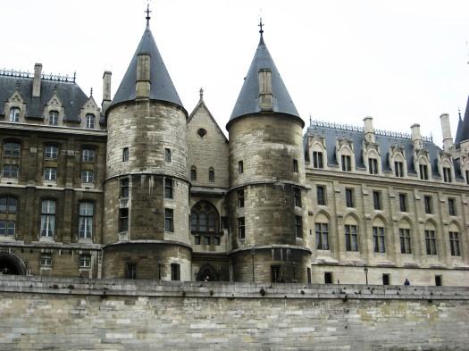 Paris -passing the Conciergerie along the Seine