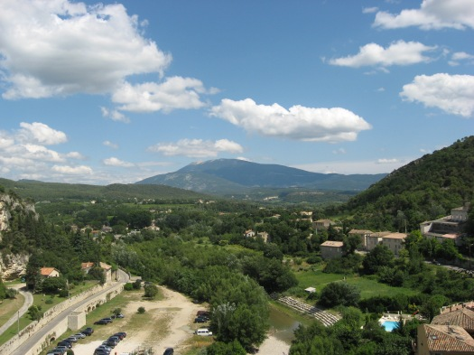 View to Mont Ventoux from the Upper town