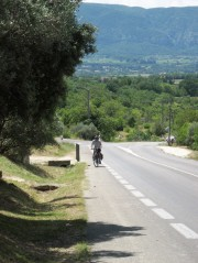 Gordes - the relentless hill leading to the town
