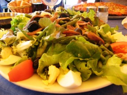 Salad Nicoise at the summit - I earned it!