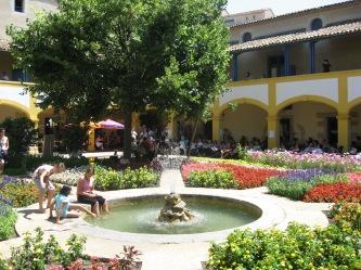 Arles fountain in Espace Van Gogh