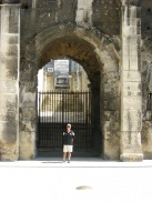 Nimes - dwarfed by the arch