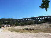 Pont du Gard comes into sight