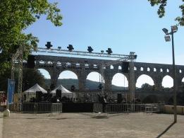 Pont du Gard - riverside concert