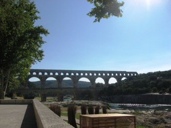 Pont du Gard - looking back up to the bridge
