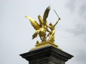 Paris - Golden adornment on the Pont Alexandre
