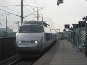 TGV arrives