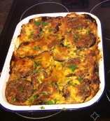 Baked lamb with Eggplant and Feta
