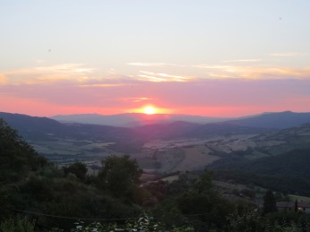 Under the setting Tuscan sun