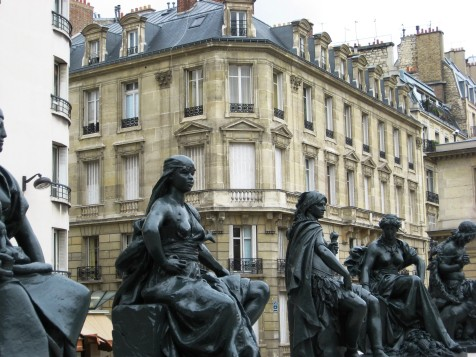 Paris - statues in the Orsay courtyard