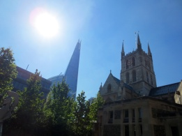 The old and the new - The Shard and Southwark Cathedral