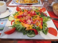 Yummy salad in Montagnac