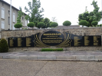 Memorial to the children who died at Oradour-sur-Glane