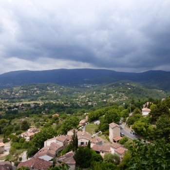View to the valley from the bell-tower in Fayence