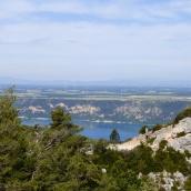 Lac Ste-Croix comes into view