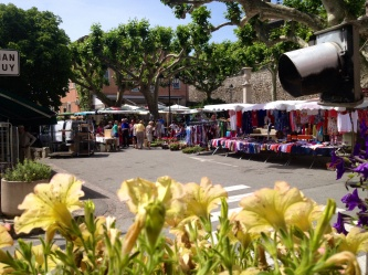 The market from the local cafe