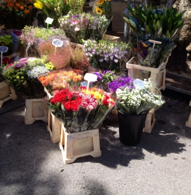 Callas market flowers
