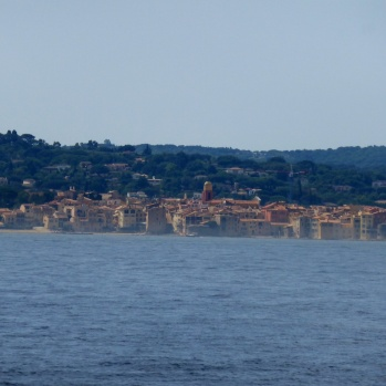 Looking across to a hazy Tropez