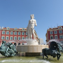 Statue in the Place Massena