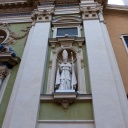 On a nearby church facade