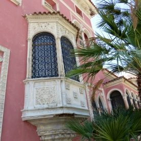 Ornate villa window