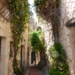 Narrow streets lead to a spectacular view in Eze