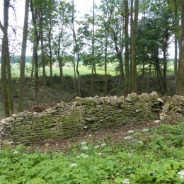 Typical dry stone wall