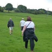 Trudging through fields