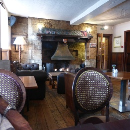 Nice welcoming interior of the Arms
