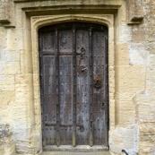 Door in the St John the Baptist in Burford