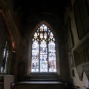 This window in the church is beautiful because it so simple compared to others we have seen
