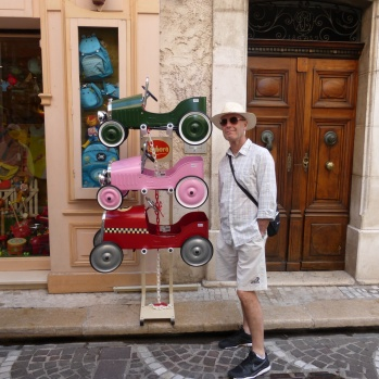 The toy shop and an elegant chap