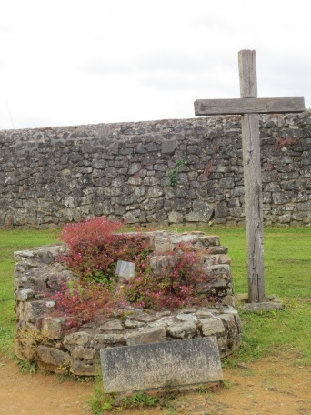 Cross near the entrance to Oradour-sur-Glane