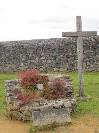 Cross near the entrance to Oradour-sur-Glane
