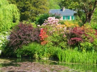 Monet's house viewed from the lily pond