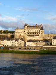 Amboise in the setting sun