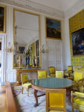 Louis-Philippe's family drawing room with its richly-coloured furnishings