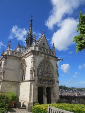 Chape of St Hubert in the grounds of Chateau d'Amboise, burial place of Leonardo da Vinci
