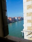 A view from the breakfast room to the Grand Canal