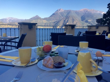 Last breakfast on the hotel terrace in Varenna