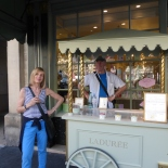 A stand outside Laduree