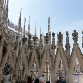 Spires seen from the Duomo Terrace