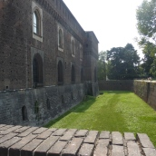 The moat around the castello