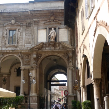 Archways in Piazza near the duomo
