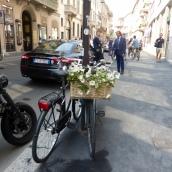 On the pavement in Via Monte Napoleone