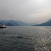 Hazy blue Lake Como